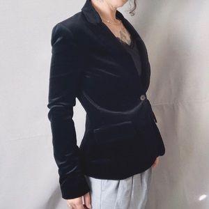 THEORY Velvet Single Breasted Blazer Black